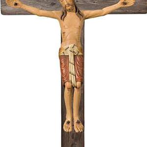 Cristo con croce stile legno vecchio (stile  Bizantino)