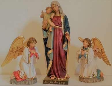 Madonna di Schio con angeli inginocchiati .  10 dimensioni  da 12 a 130 cm -  Madonna solo presso