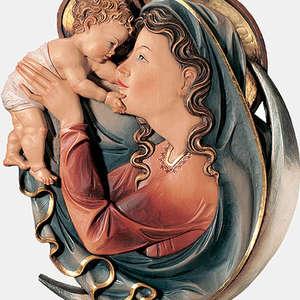 MADONNA IN LUNA BASSORILIEVO -  - ARTE sacra ZULIAN